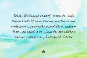 saradnja roditelja i nastavnika u obrazovanju deteta